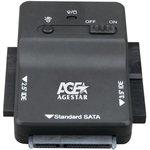 """Адаптер-переходник AGESTAR 3FBCP1, для 2.5"""" и 3.5"""" дисков, черный"""