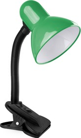 KD-320 C05 зелёный (Светильник настольный с прищепкой 230В, 60Вт, E27, ЛОН)