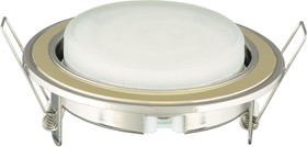 FM1-GX53-GC (металлический встраиваемый светильник, золото-хром)