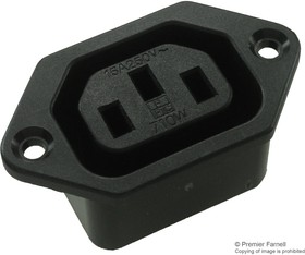 710W-00/03, CONNECTOR, POWER ENTRY, FEMALE, 15A