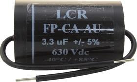 FP-CA-3.3-AU, DC Пленочный Конденсатор, 3.3 мкФ, 630 В, Metallized PP, ± 5%, Серия FP-CA-AU
