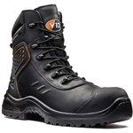 V1750/07, Defender Black Composite Toe Safety Shoes, UK 7