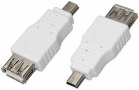 Фото 1/2 18-1175, Переходник гнездо USB-A (Female)-штекер miniUSB (Male)