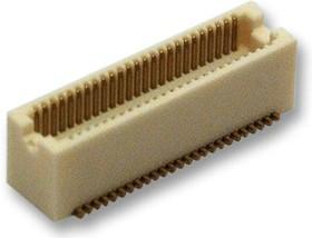 DF12(5.0)-50DP-0.5V(86), Составной разъем платы, высота 5мм, Серия DF12, 50 контакт(-ов), Штыревой Разъем, 0.5 мм