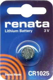 CR 1025 (батарейка литиевая Li/MnO2, 30mAh, 3V)