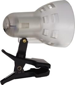 KD-304 С21 белый, П/прозрачн. (Светильник-прищепка, б/лампы, 230В, 40Вт)