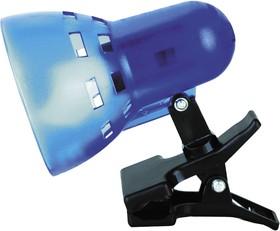 KD-304 С23 синий, П/прозрачн. (Светильник-прищепка, б/лампы, 230В, 40Вт)