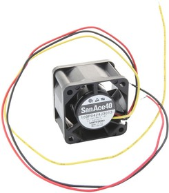 9GV0412J301, Осевой Вентилятор, серия San Ace 40, 12 В, DC (Постоянный Ток), 40 мм, 28 мм, 24 фут³/мин