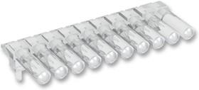 Фото 1/2 1271.2004, Световая трубка, миниатюрная однорядная, 11.55 мм, 4 трубка(-ок), Круглая, В Панель, Прозрачный