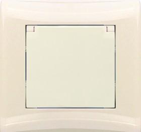 V01-12-R18-S (Розетка 1-мест. с зазем. и крышкой (крем), в сб. Magenta)