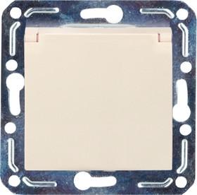 V01-12-R18-M (Розетка 1-мест. с зазем. и крышкой (крем), м-зм, Magenta)
