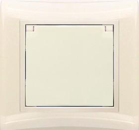 V01-22-R18-S (Розетка 1-мест. с зазем. и крышкой (крем), в сб. Violet)