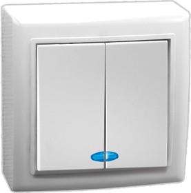 V01-31-V22-S (Выключатель 2-кл. с инд. (бел), Solar)