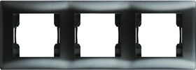 V01-14-A31-M, Рамка 3-мест. (Nero), Magenta