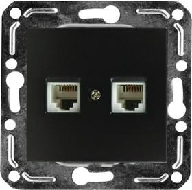 V01-14-F22-M (Розетка 2-мест. телеф. RJ -11 (Nero), м-зм, Magenta )