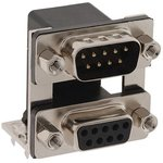 178-009-413R671, STACKED D SUB CONNECTOR, PLUG/RCPT, 9POS