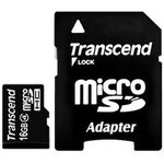 Карта памяти microSDHC TRANSCEND 16 ГБ, Class 4 ...