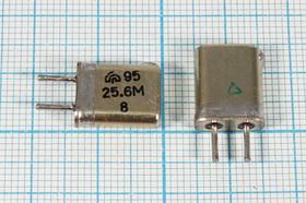 кварцевый резонатор 25.6МГц в корпусе с жёсткими выводами МА=HC25U по третьей гармонике, 25600 \HC25U\\\\МА\3Г (25.6М)