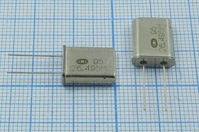 кварцевый резонатор 26.495МГц в корпусе HC49U, 3-ья гармоника, 26495 \HC49U\\ 30\ 30/-10~60C\ РК367-01МД-8АС\3Г