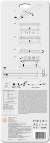 Фото 1/2 Светильник Linear LED Mobile 300 1.4Вт 4000К 98лм IP20 с сенсором серебр. и USB LEDVANCE 4058075260467