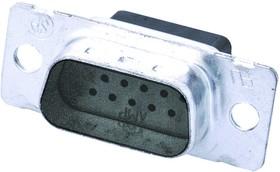 1757819-7, D SUB SHELL, PLUG, 15 POSITION, STEEL