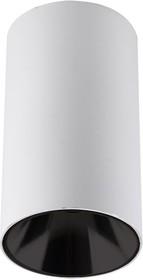 5031340, Светильник светодиодный ДПО GU10 без лампы круглый белый корпус черный рефлектор Jazzway