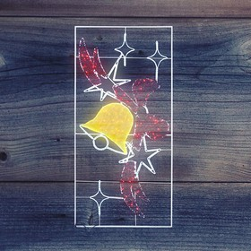 """Фото 1/2 501-353, Фигура световая """"Колокольчик с бантом"""", 320 светодиодов 32м дюралайта, размер 260*125"""