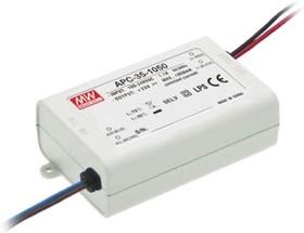 Фото 1/4 APC-35-500, AC/DC LED, 35Вт, 500мА/25…70В, блок питания для светодиодного освещения