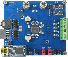 EVALAUDIOMA12070TOBO1, Evaluation Board, MA12070 MERUS Audio Amplifier, 2-Channel, 80W, Analog Input