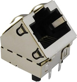 SS-60300-059, 10G, 5G, 2.5G, 45 DEGREE SHIELDED JACK WITH EMI FINGERS 08AH6602