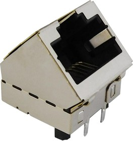 SS-60300-081, 10G, 5G, 2.5G, 45 DEGREE SHIELDED JACK WITHOUT EMI FINGERS 08AH6608
