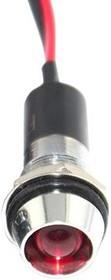 FL1M-12CW-1-R12V, LED RED 12MM NUT 12VAC/DC STK 99AC2281