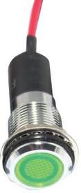 FL1M-12FW-1-G12V, LED GRN 12MM NUT 12VAC/DC STK 99AC2289