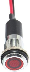 FL1M-12FW-1-R24V, LED RED 12MM NUT 24VAC/DC STK 99AC2295