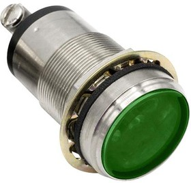 "556160A314F, 1""FLAT GRN LED PMI CONST INT 07AH2062"