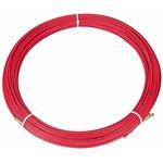 47-1050, Протяжка кабельная (мини УЗК в бухте), стеклопруток, d=3,5 мм 50 м, красная