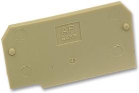 021136 AP (SAKR), Торцевая крышка, для использования со сквозными клеммными колодками