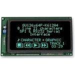 GU126X64F-K612A4, ВЛ-индикатор, точечно-матричный, 126 x 64 ...