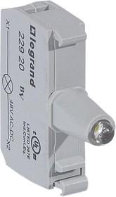 Блок контактов со светодиодом 48В под винт бел. Osmoz Leg 022920