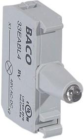 Блок контактов со светодиодом 48В под винт син. Osmoz Leg 022923