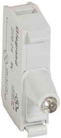 Блок контактов со светодиодом 48В под винт желт. Osmoz Leg 022924