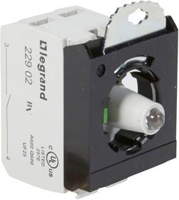 Блок контактов 3п 12-24В +НО адаптер с инд. под винт зел. Osmoz Leg 023002