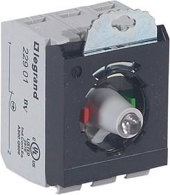 Блок контактов 3п 12-24В +НО+Н3 адаптер с инд. под винт красн. Osmoz Leg 023004