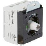 Блок контактов 3п 12-24В +2хНО адаптер с инд. под винт красн. Osmoz Leg 023007