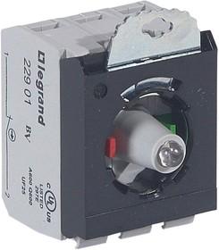 Блок контактов 3п 230В +НО+Н3 адаптер с инд. под винт красн. Osmoz Leg 023014