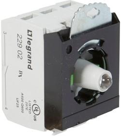 Блок контактов 3п 230В +2хНО адаптер с инд. под винт бел. Osmoz Leg 023016