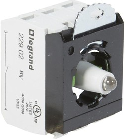 Блок контактов 3п 230В +2хНО адаптер с инд. под винт красн. Osmoz Leg 023017