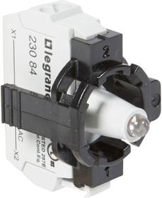 Блок контактов 1п 230В адаптер с инд. с пруж. клеммами желт. Osmoz Leg 023134
