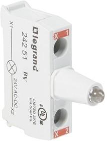 Блок контактов со светодиодом 12-24В для головок под винт красн. Osmoz Leg 024251