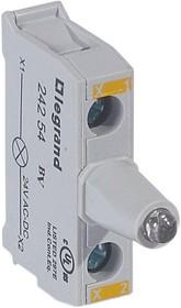 Блок контактов со светодиодом 12-24В для головок под винт желт. Osmoz Leg 024254